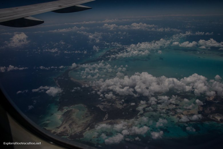 In the air over the Caribbean - ExplorationVacation.net