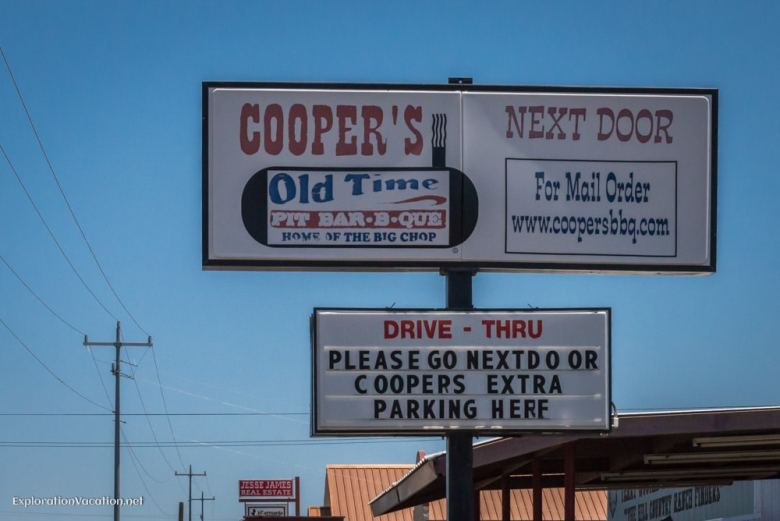 Coopers BBQ Llano Texas Hill Country - ExplorationVacation.net