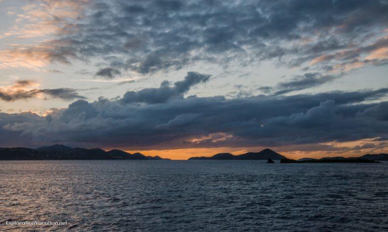 On the ferry back to St Thomas - ExplorationVacation.net