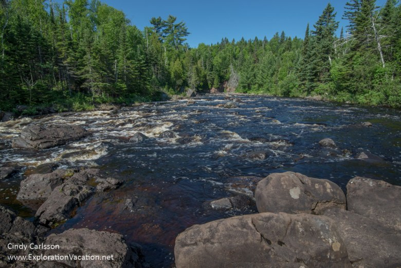 Above Illgen Falls on the Baptism River - Lake Superior North Sh