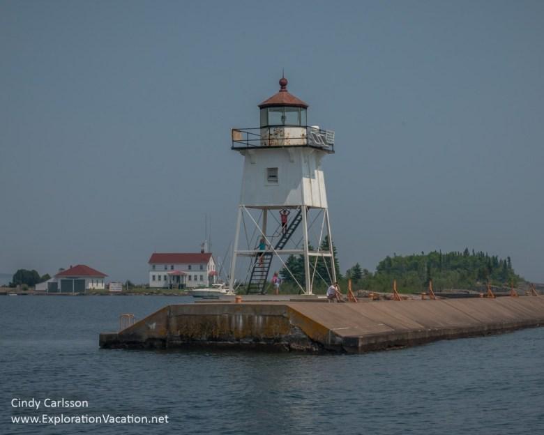 Grand Marais lighthouse in Minnesota - ExplorationVacation
