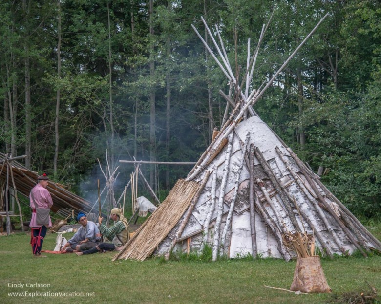 Ojibwe village Grand Portage Monument Minnesota