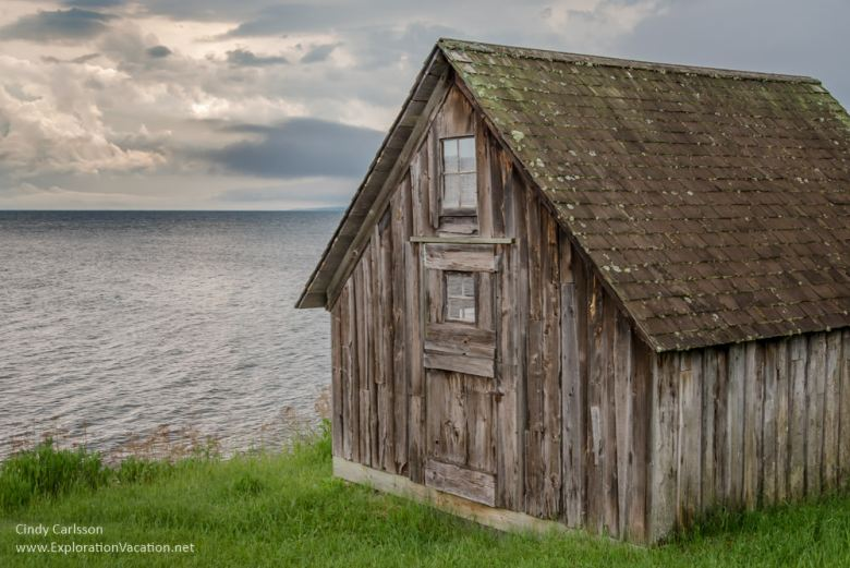 fish shacks along Lake Superior's North Shore