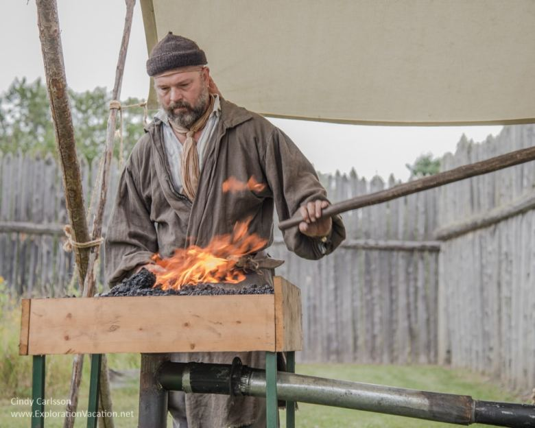 blacksmith Voyageurs at Grand Portage Monument Minnesota