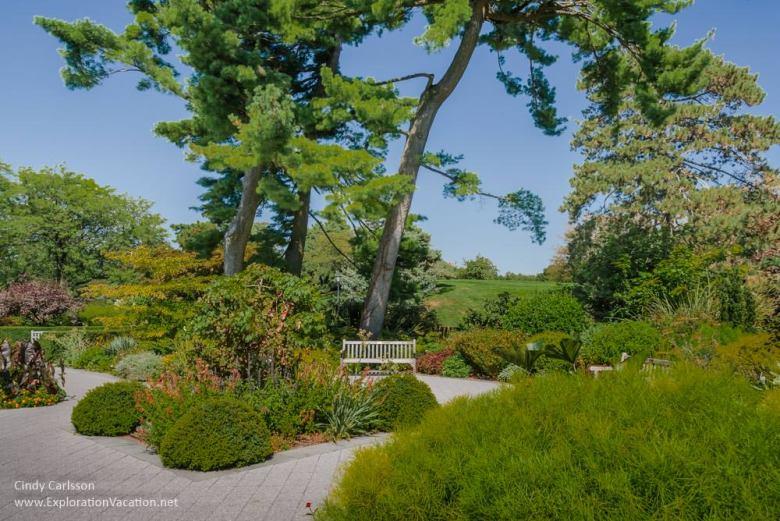 Landscaped grounds New York Botanical Garden NYC