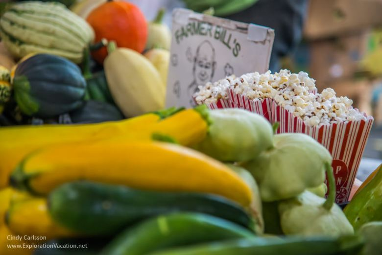 vegetables with popcorn Saint Paul farmers market