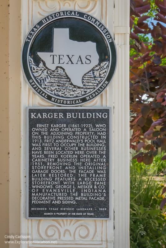 historic plaque Comfort Texas Hill Country - ExplorationVacation.net
