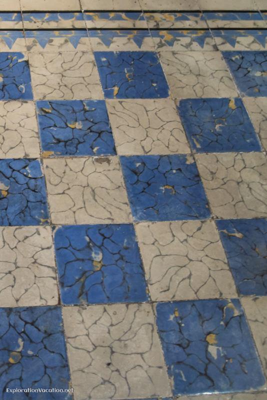 tile floor - house tour in Merida
