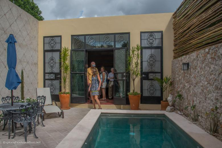 Pool area house tour in Merida