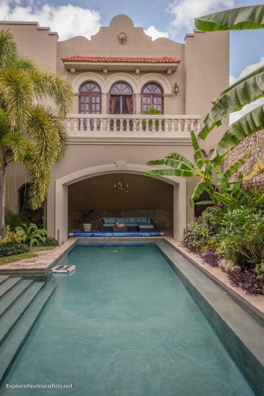 pool and master bedroom La Calle Escondida Merida