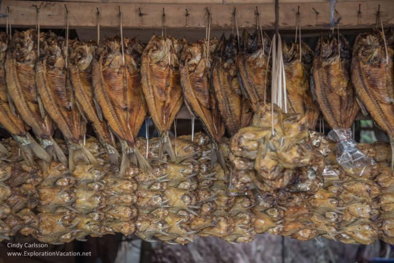 dried fish at Nam Ngum market