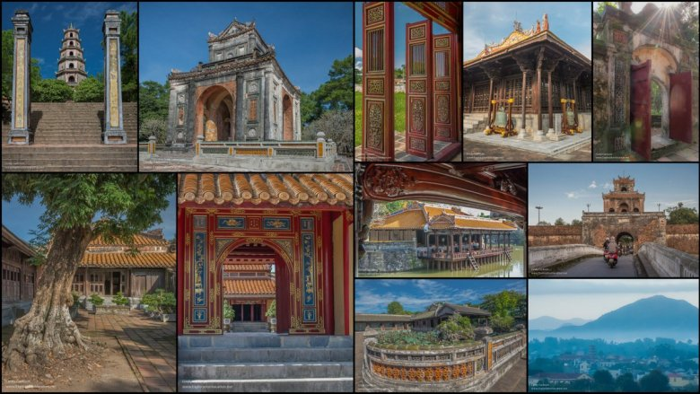 collage of Hue Vietnam