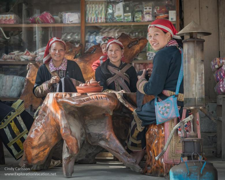 women sewing at TaPhin village