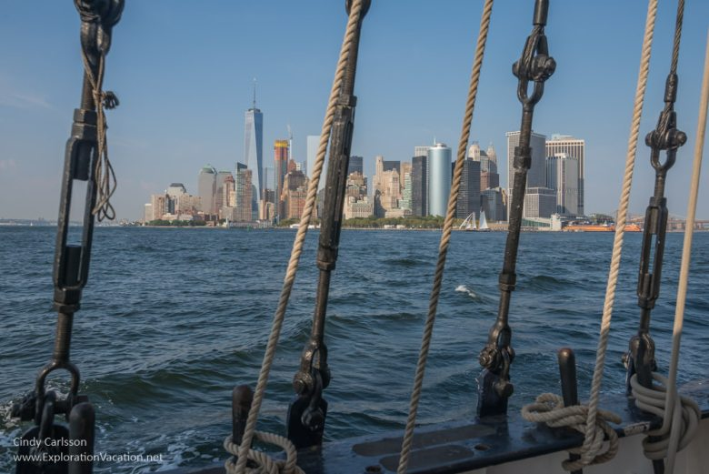 Manhattan through rigging