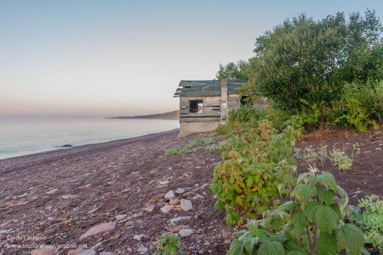 sunrise fish shack Lake Superior
