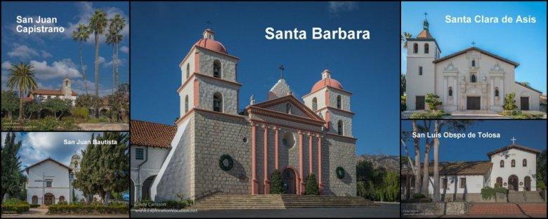 California mission exteriors