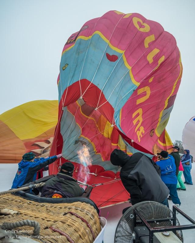 raising the balloon