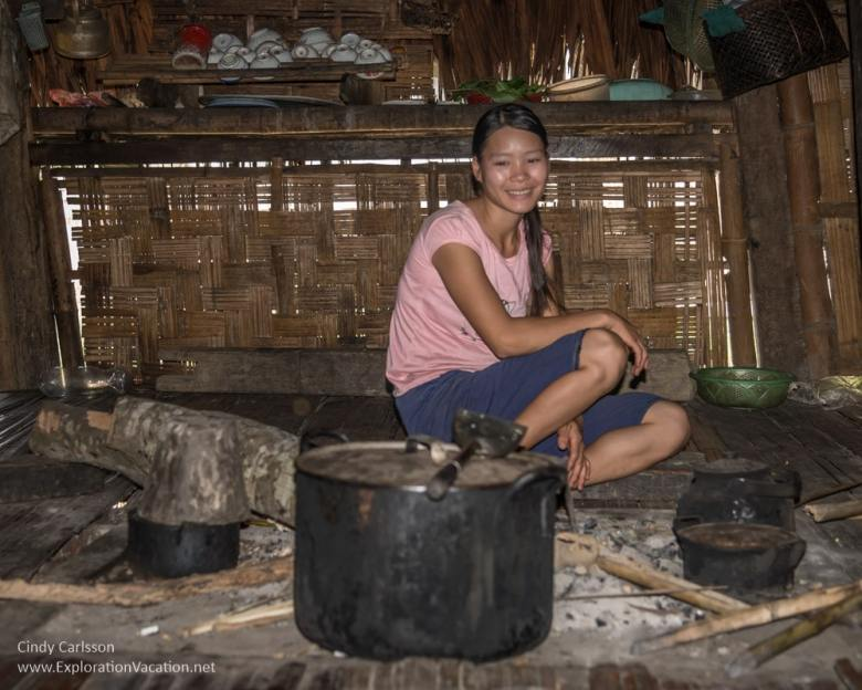 girl in the kitchen of a Tay home