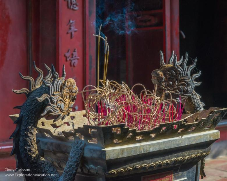 incense burner with dragons
