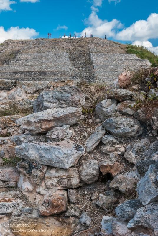 Mayan ruins of Kinich Kakmó Izamal Mexico - ExplorationVacation.net