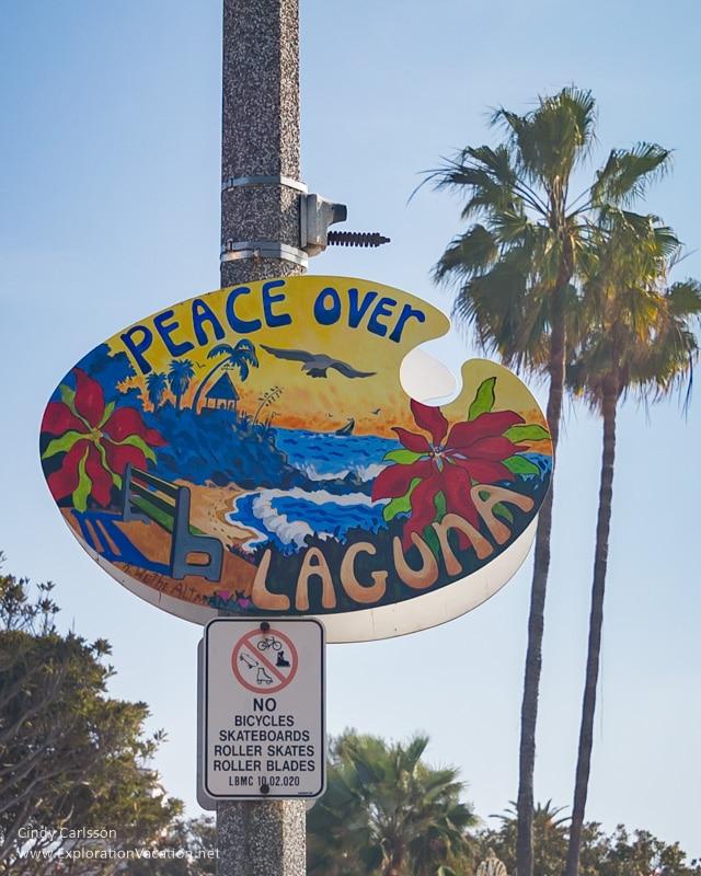 Laguna Beach city sign