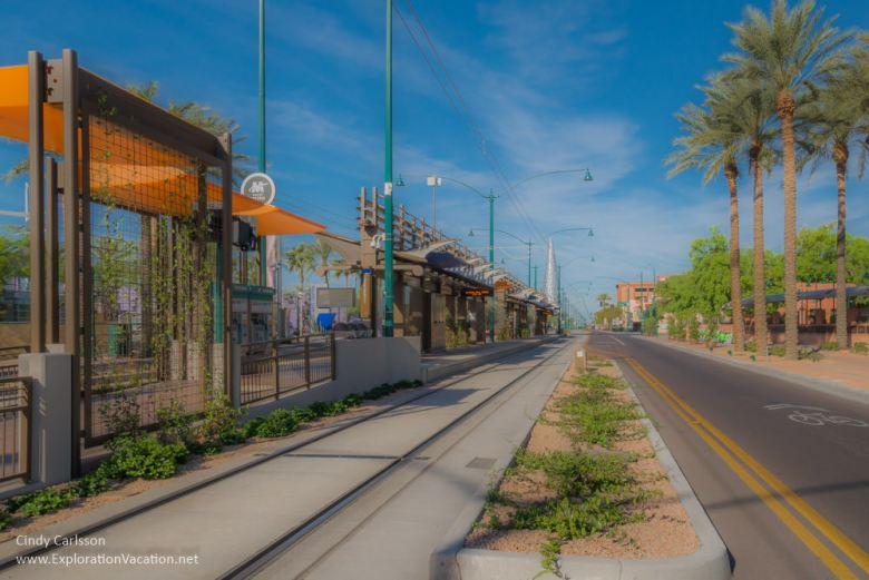 Light rail in Mesa AZ - ExplorationVacation.net