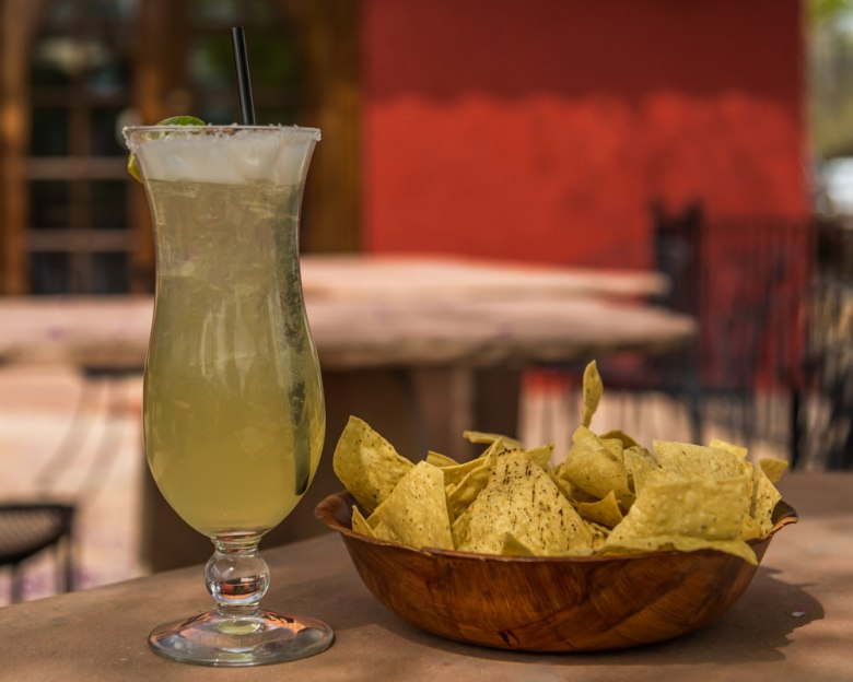 margarita and chips in Clarkdale AZ