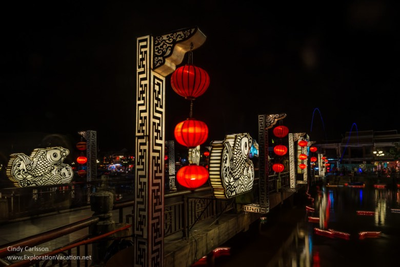 lights along the river in Hoi An Vietnam - ExplorationVacation.net