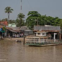 Ferry traffic on the Mekong, Vietnam