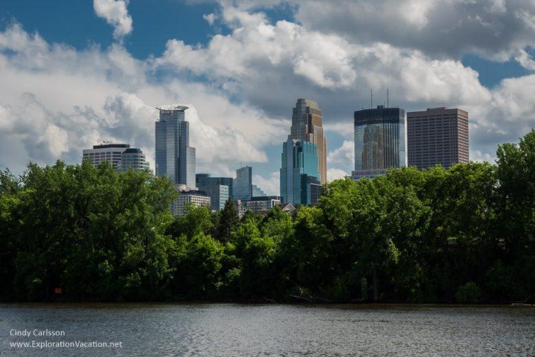 Minneapolis skyline Minneapolis segway tour -ExplorationVacation.net