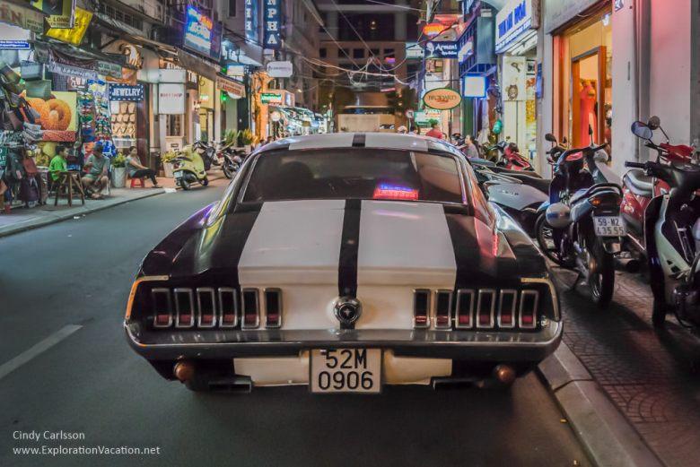 1967 Mustang in Saigon Vietnam - ExplorationVacation.net
