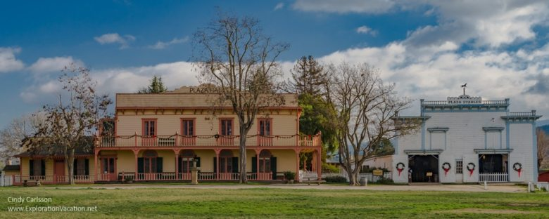 Zanetta house and plaza stable San Juan Butista California