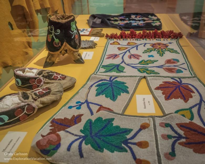 Native American beadwork Koochiching County Museums MN - ExplorationVacation.net