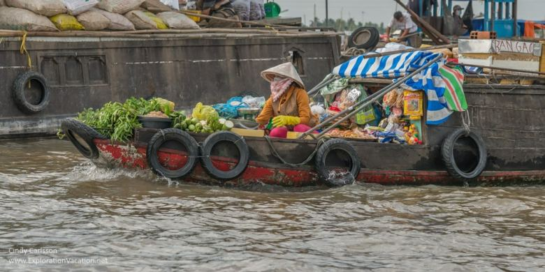 floating grocery at Cai Rang floating market Vietnam - ExplorationVacation.net