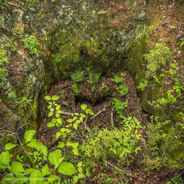 mine shaft Little American Island, Rainy Lake, Voyageurs National Park, ExplorationVacation.net