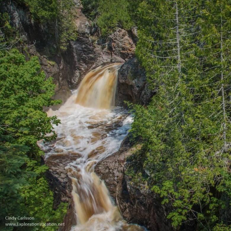 cascades at Cascade River State Park Minnesota - www.ExplorationVacation.net