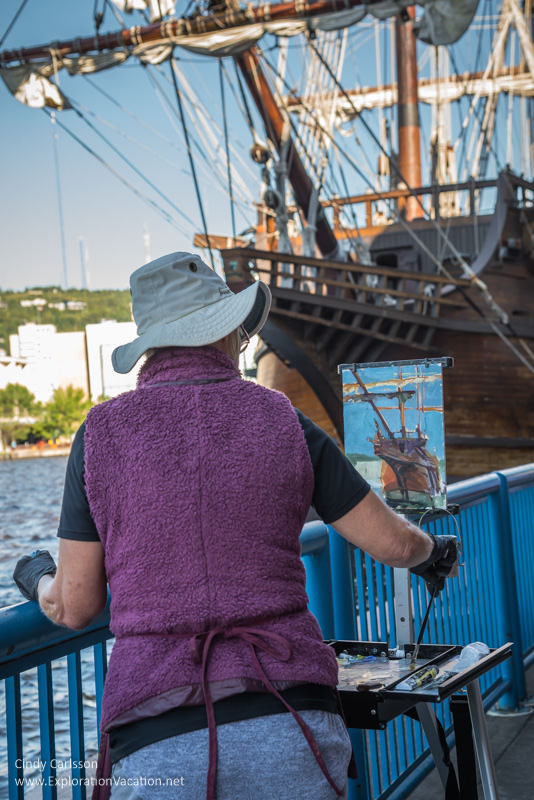 Duluth Tall Ship Festival - painting by the El Galeon Andalucia - www.ExplorationVacation.net