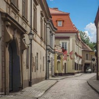 Street in Vilnius Lithuania Old Town walking tour - www.ExplorationVacation.net