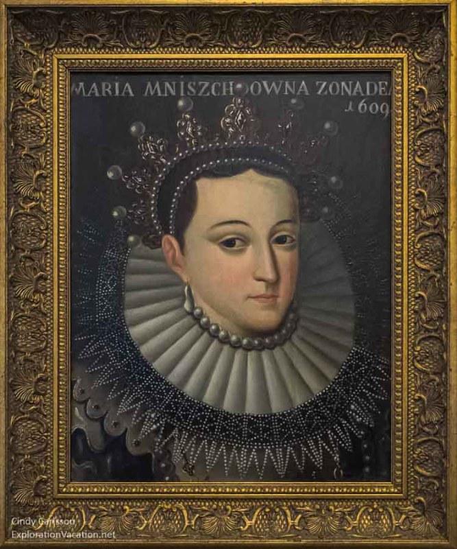 Maria Mnishik wife of Czars Lzhedmitry I and Lzhedmitry II 1609 Lithuanian National Museum New Arsenal - www.ExplorationVacation.net