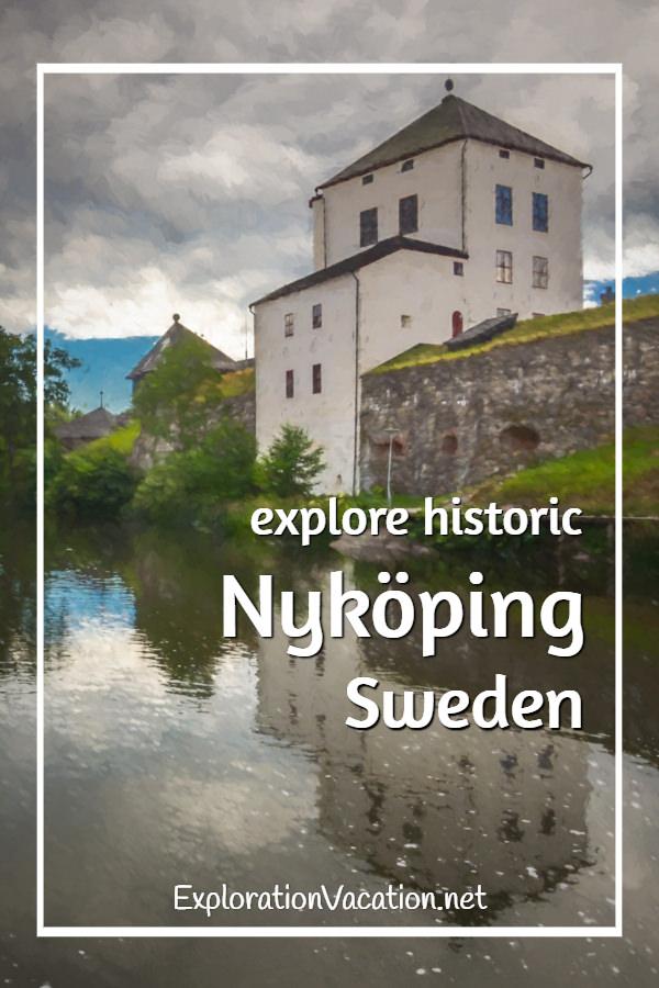 Painting of the castle on a stroll through historic #Nyköping #Sweden - ExplorationVacation #VisitSweden #VisitSörmland #sponsored