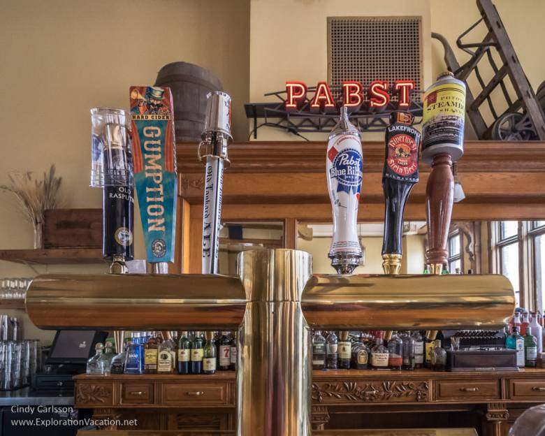 Great Hall bar Best Place at Milwaukee's historic Pabst Brewery - www.explorationvacation.net