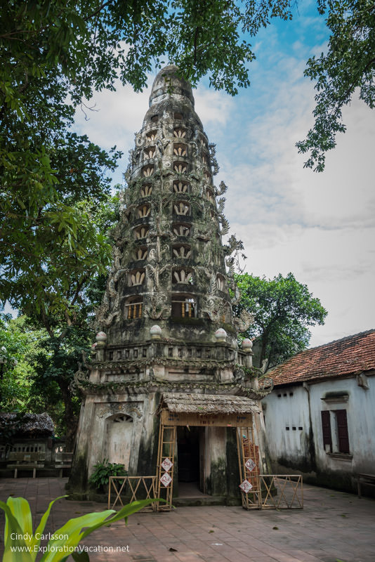 bell tower Mia Pagoda Duong Lam village Vietnam - www.ExplorationVacation.net