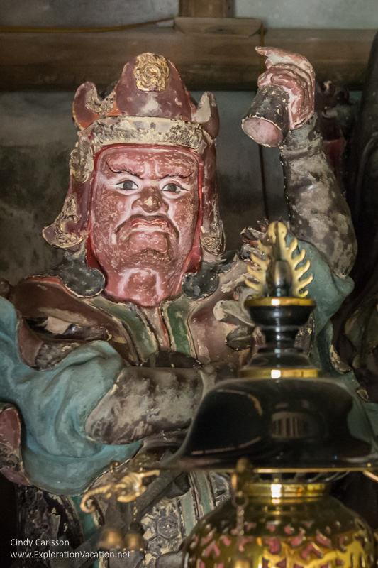 Fantastic figures at Mia Pagoda, Duong Lam, Vietnam