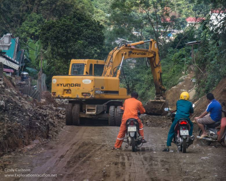 road construction Northern Vietnam - ExplorationVacation