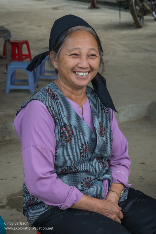 woman at market in northern Vietnam - Exploration Vacation