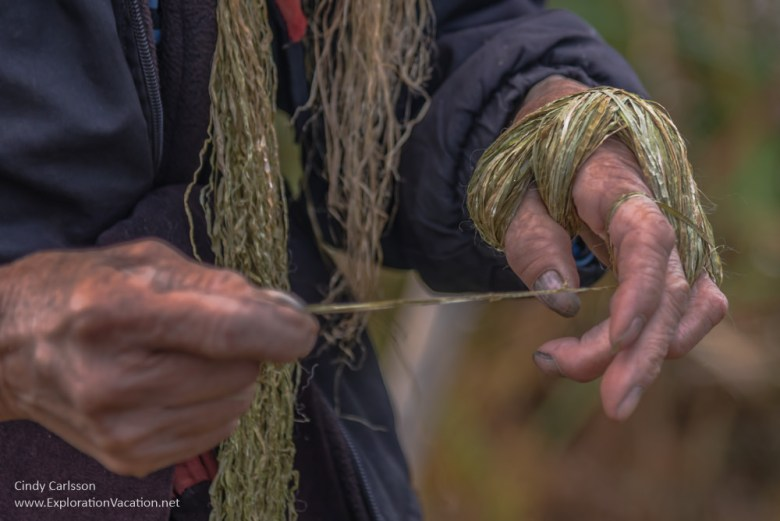 twisting thread Vietnam road trip Black Hmong village Sapa - ExplorationVacation