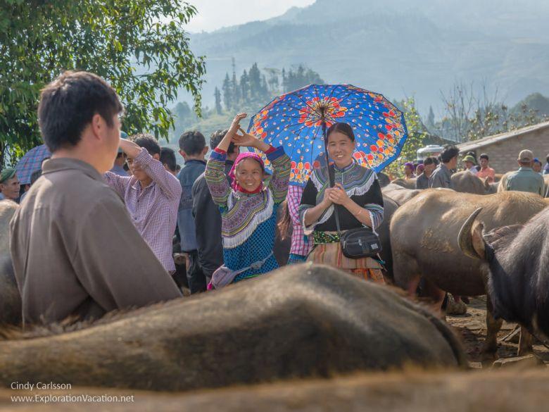 Bac Ha market Northern Vietnam road trip - ExplorationVacation