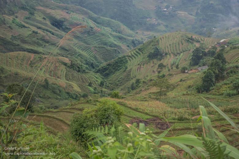 mountain scenery Northern Vietnam road trip - ExplorationVacation