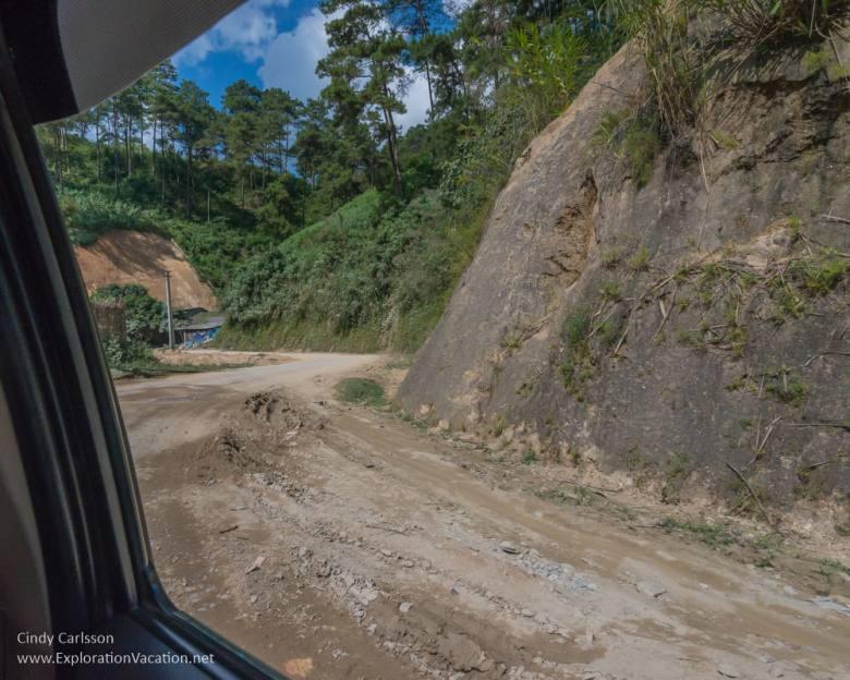 road construction Northern Vietnam road trip - ExplorationVacation