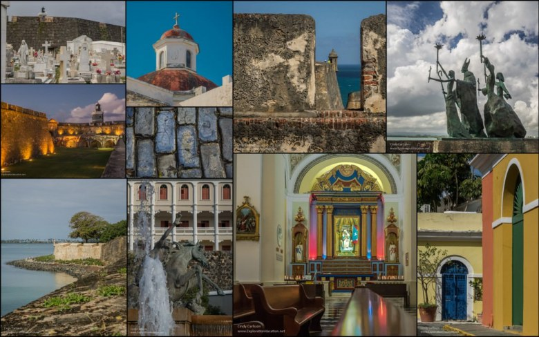 Puerto Rico Old San Juan collage - ExplorationVacation.net